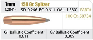 Nosler Accubond Long Range 150 Grain 7mm Bullets