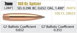 Nosler Accubond Long Range 168 Grain 7mm Bullets
