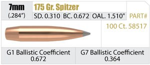 Nosler Accubond Long Range 175 grain 7mm bullets