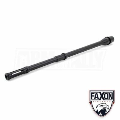 faxon 16 pencil profile ar15 barrel 556 nato integral slim flash hider 15a58m16npq-imdf
