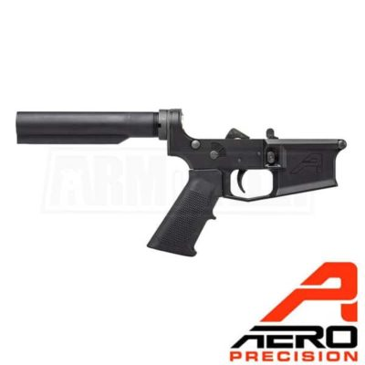 Aero Precision M4E1 Carbine Complete Lower Receiver A2 Grip No Stock APAR600112 Black
