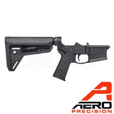 Aero Precision M4E1 Complete Lower Receiver Magpul SL Grip SL Carbine Stock Black APAR600116